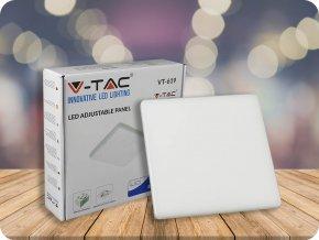24W LED Regulierbares Panel SAMSUNG Chip Quadratisch 6400K (Lichtfarbe Kaltweiß)