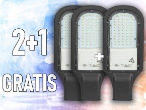 30W LED-Straßenlaterne, 3000LM, 110°, Samsung Chip, 2+1 gratis! (Lichtfarbe Kaltweiß)