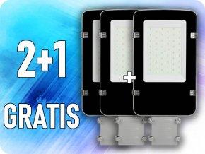 LED-Straßenbeleuchtung 30W (3600lm), Samsung Chip, A++, 2+1 gratis! (Lichtfarbe Kaltweiß 6400K)
