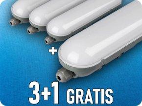 LED Wannenleuchte 36W (2800lm), 120cm, IP65, 3+1 gratis! (Lichtfarbe Kaltweiß 6000K)