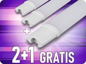 LED Wasserdichte Lampe 48W, 150 cm, 4000Lm, IP65, 2+1 gratis!