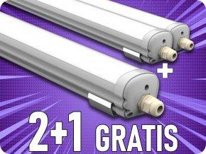 Wasserdichte Lampe 36W (2880lm), 120 cm, IP65, 2+1 gratis!