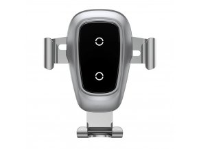 Baseus Gravity Autohalter, kabelloses Laden, Silber