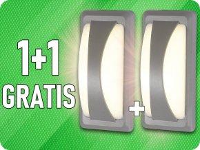 LED-Wandleuchte mit weichem Licht, 12W, 500lm, IP65, 1+1 gratis!
