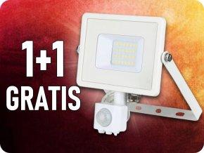 20W LED Strahler mit Bewegungssensor, Weiss, SAMSUNG Chip, 1+1 gratis!