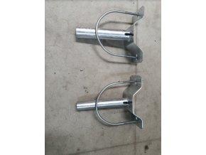 Ausleger für Betonmast 300mm + Anschluss. Material, Durchmesser 48mm, 5°, verzinkt