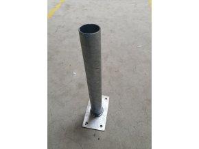 Wandhalterung 500mm, Durchmesser 60mm, 5°, verzinkt