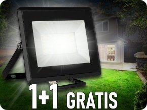 50W LED Flutlicht/Scheinwerfer, Schwarz, 1+1 gratis!