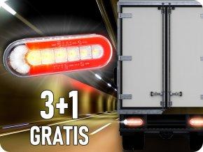 Dynamisches Rücklicht 12/24V, 3+1 gratis!