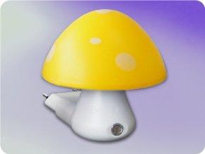Nachtlicht mit sensor  Pilz 0,4W 6400K Gelb + Weiss