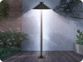 LED Garteneinbauleuchte, 7W, 420lm, 71cm, SAMSUNG CHIP, IP65, schwarz
