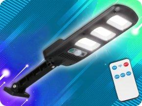 LTC Solarlampe mit PIR-Sensor und Fernbedienung, 3xLED, 24W, 1800lm