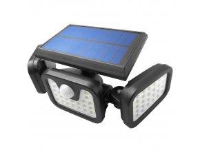 LTC LED Solarlampe mit Licht und PIR Sensor, 20W, 800lm, 2400mAh, Reichweite 3-5m
