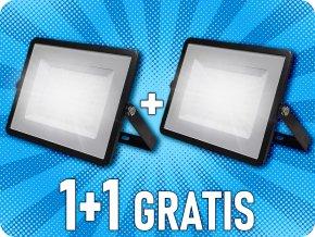 100W scheinwerfer/flutlicht (8000 lm), SAMSUNG-Chip, schwarz, 1+1 gratis!