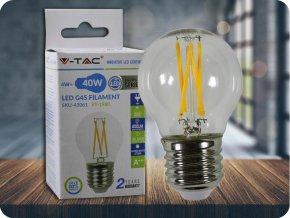 3353 led gluhbirne 4w filament kreuz e27 g45