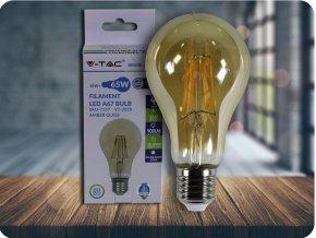 LED Glühbirne - 10W Filament E27 A67 Bernstein Abdeckung (Lichtfarbe Warmweiß)