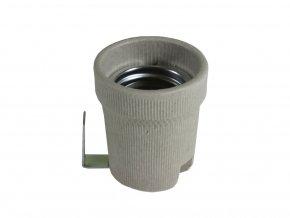4004 e27 lampenfassung keramik mit halterung
