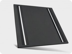 9278 44w led panel algie linie mit netzteil 60x60cm 5300lm schwarz