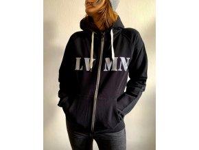 Lvmen zipper hoodie butterfly worm