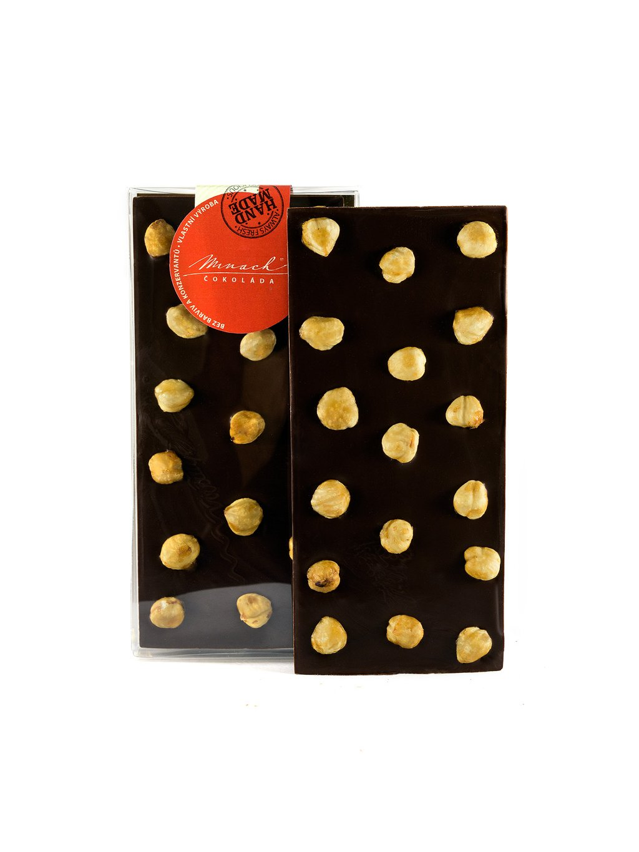 Hořká čokoláda s lískovými ořechy