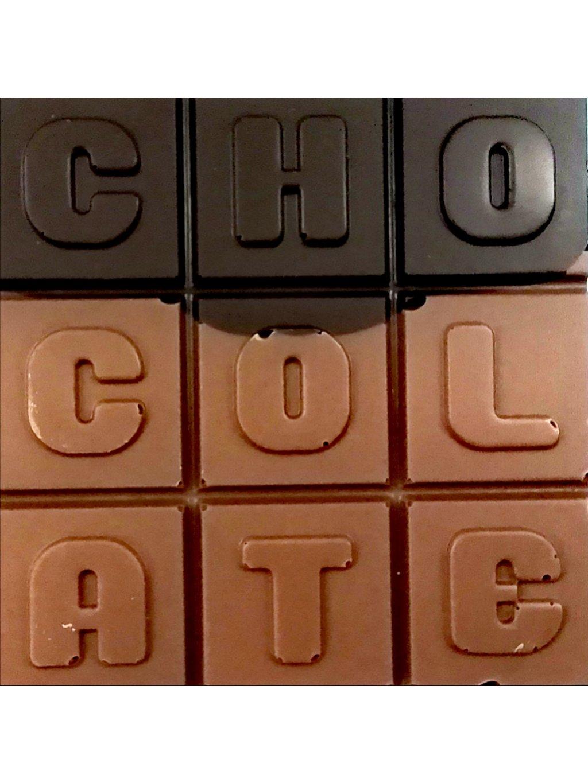 Hořko-mléčná čokoláda slazená stévií