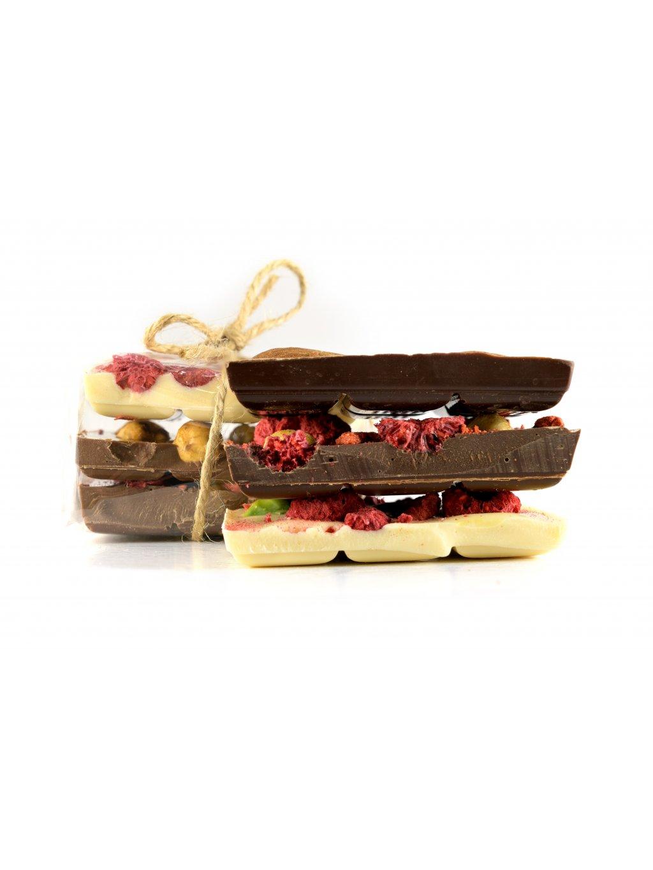 Čokoláda s ovocem a ořechy - balíček