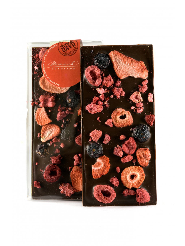 Hořká čokoláda s mixem ovoce