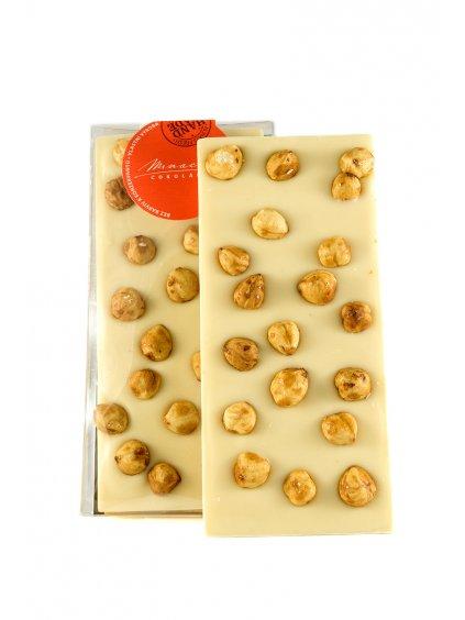 Bílá čokoláda s lískovými ořechy