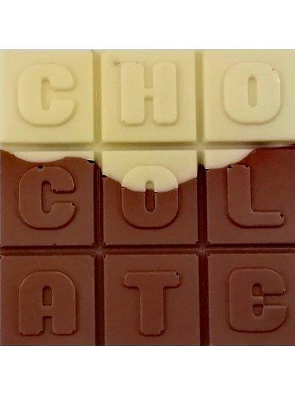 Bílo-mléčná čokoláda slazená stévií