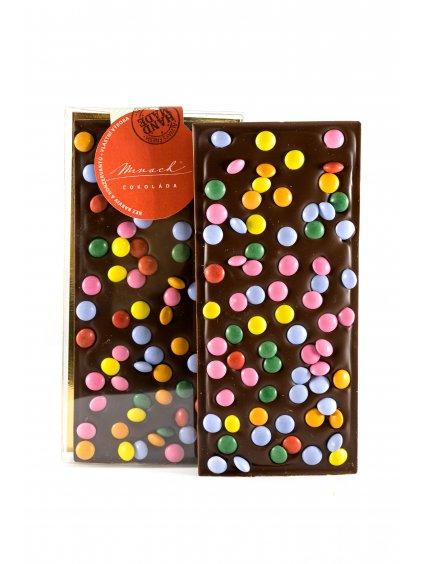 Hořká čokoláda s lentilkami