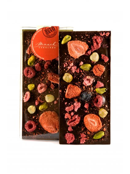 Hořká čokoláda s ovocem a ořechy