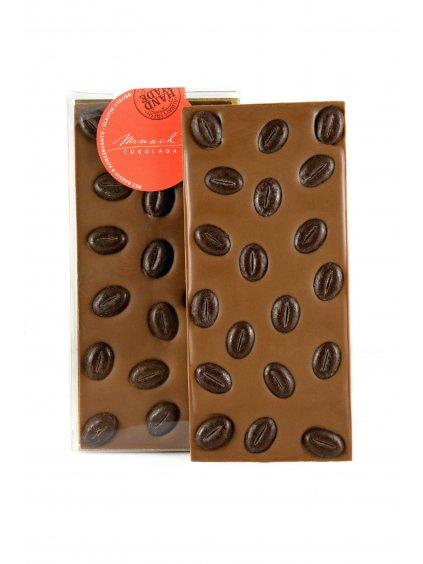 Mléčná čokoláda s čokoládovou kávou