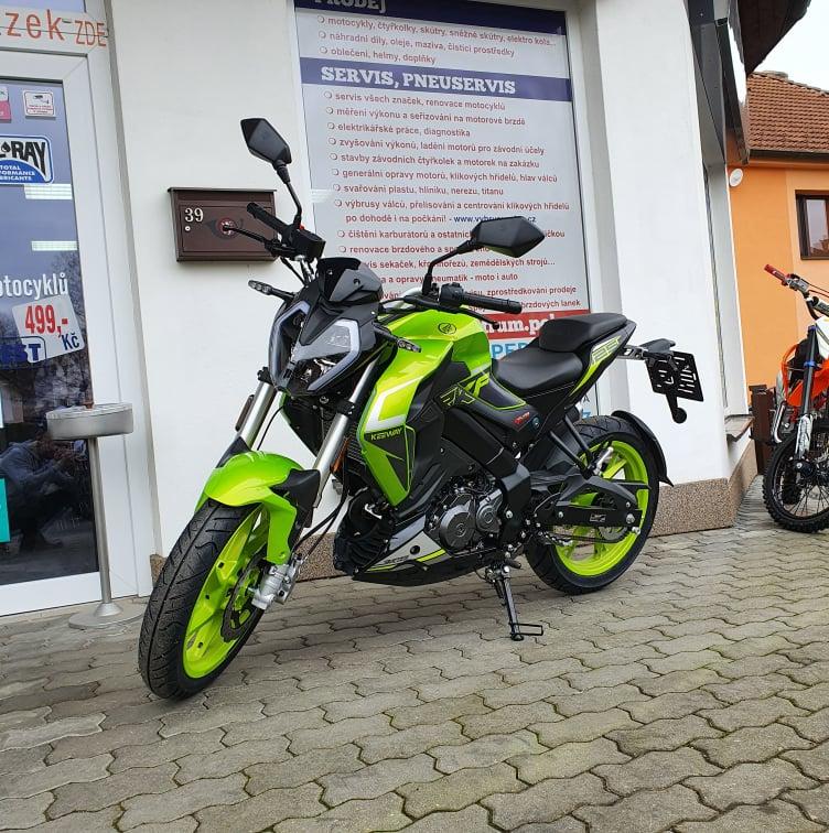 Oblíbený motocykl Keeway RKF 125i Limited 2020 se zárukou 3 roky skladem!