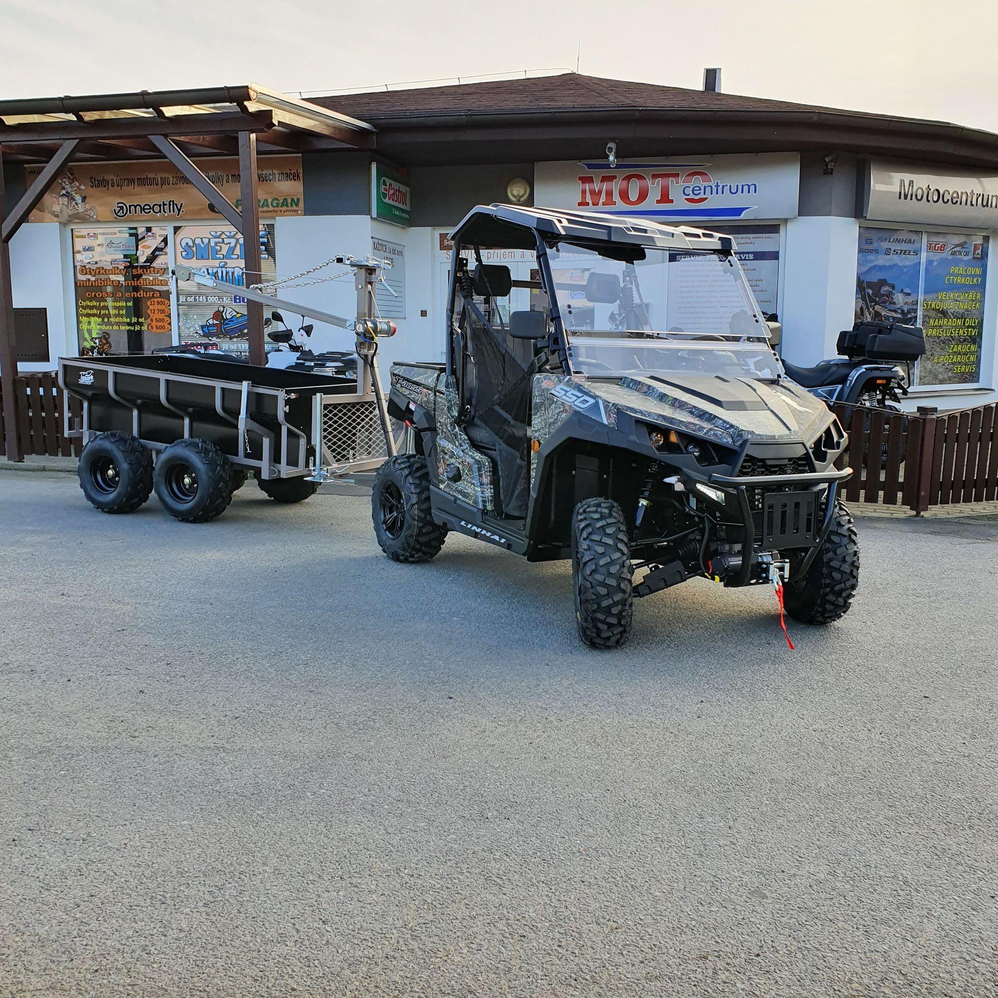 LINAHI UTV 550 T-BOSS EFi EPS s vyvážecím vozíkem SHARK WOOD 1500