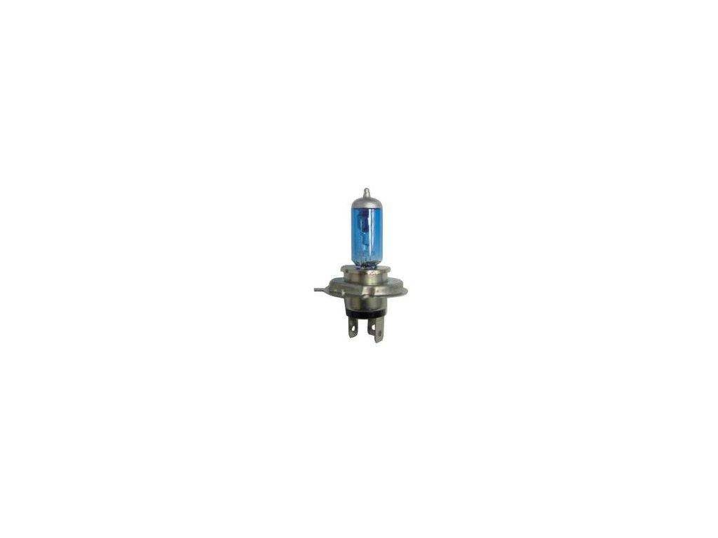 205 zarovka h4 halogenova modra 12v 60 55w p43t
