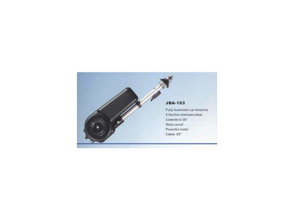 5040 elektricka automaticky vysouvaci antena vodotesna delka prutu 89cm kabel 140cm 12v jba 103
