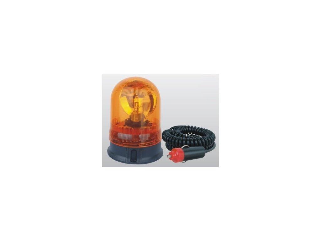4752 rotacni halogenovy majak oranzovy 24v magnet