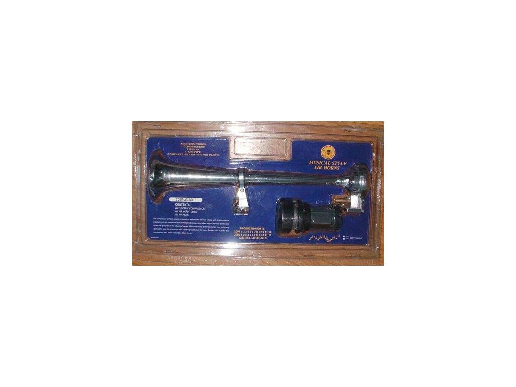 4692 vzduchova fanfara chromova trubka 420mm s kompresorem 12v