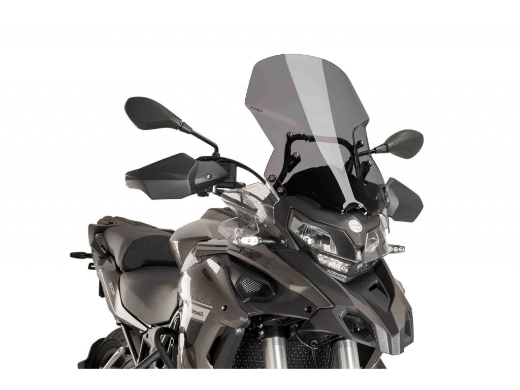 Plexi štít pro Benelli TRK502/X PUIG TOURING 9485F tmavá kouřová