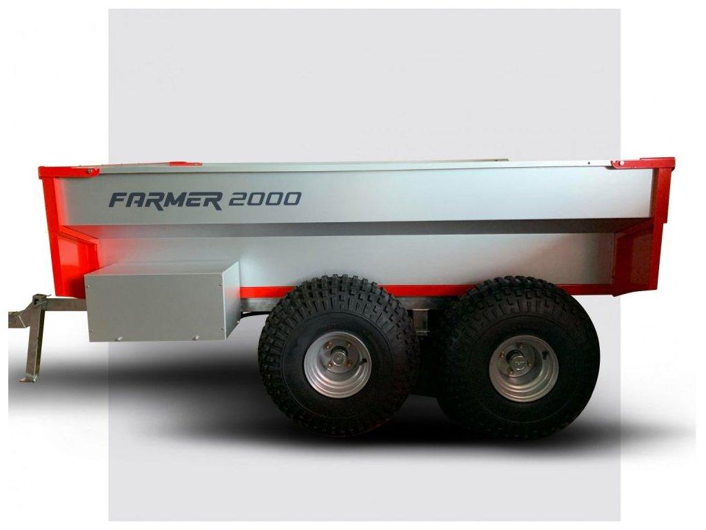 Sklápěcí elektrohydraulický vozík za čtyřkolku FARMER 2000 - HOMOLOGACE