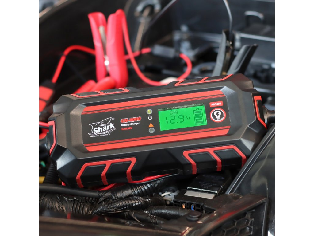 SHARK Battery Charger CN-4000, 6/12V, IP54, 4A DC