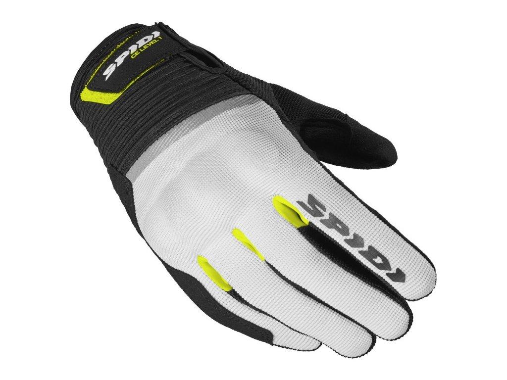 rukavice FLASH CE LADY, SPIDI, dámské (černé/bílé/žluté fluo)