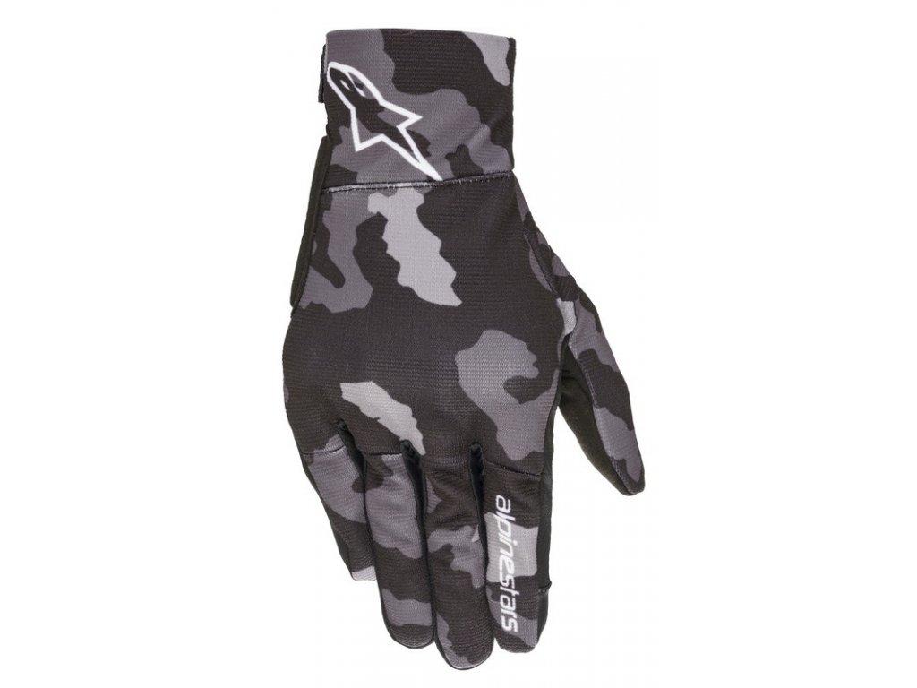 rukavice REEF 2021, ALPINESTARS, dětské (černá/šedá camo)
