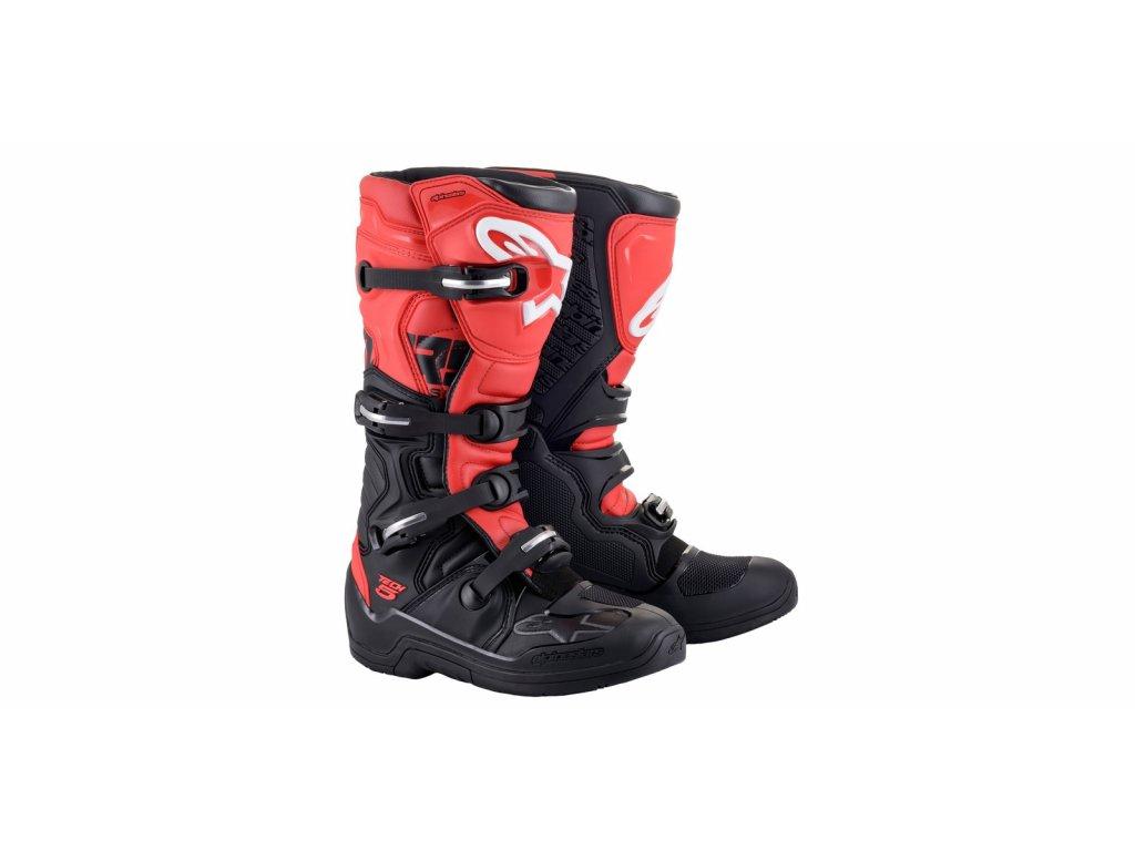 boty TECH 5 2021, ALPINESTARS (černá/červená)