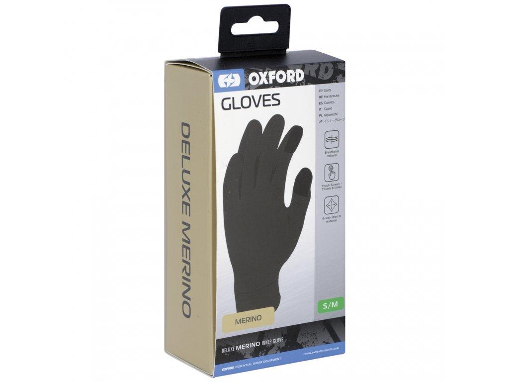 vložky do rukavic Merino vlna, OXFORD (černé)