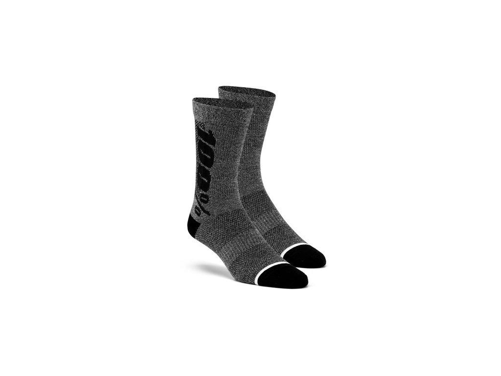ponožky zateplené RYTHYM Merino vlna, 100% (šedé)