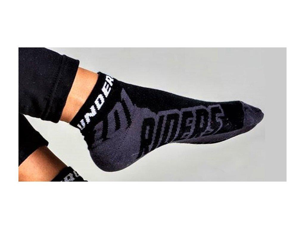 ponožky ROCK, 101 RIDERS - ČR (černé)