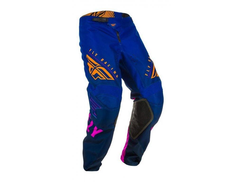 kalhoty KINETIC K220, FLY RACING dětské (modrá/modrá/oranžová)