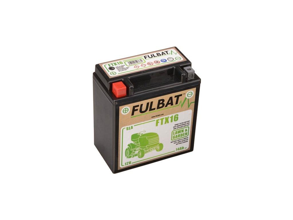 baterie 12V, FTX16 SLA (Husquarna), 14Ah, 230A, levá, bezúdržbová MF AGM, 150x87x161, FULBAT (aktivovaná ve výrobě)