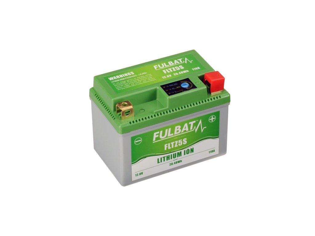 lithiová baterie  LiFePO4  FULBAT  12V, 1,6Ah, 110A, 0,36 kg, 113x70x85 mm nahrazuje typy: (CTZ5S-BS, CBTX4L-BS, CBTX5L-BS)
